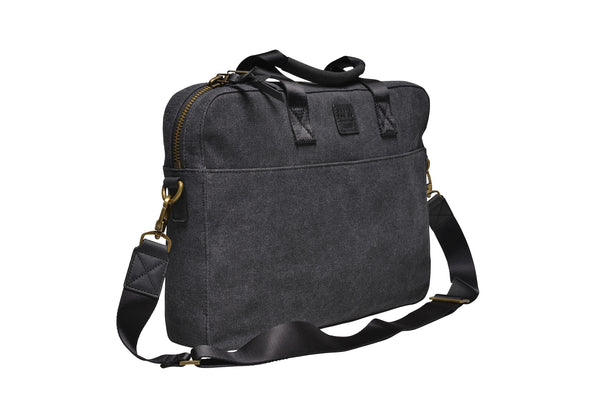 """Zurich"" Canvas Briefcase / Anthracite"