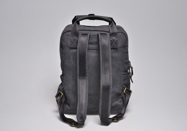 """Vienna"" Canvas Carry Backpack / Anthracite"