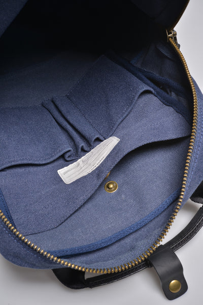 """Vienna"" Canvas Carry Backpack / Blue"
