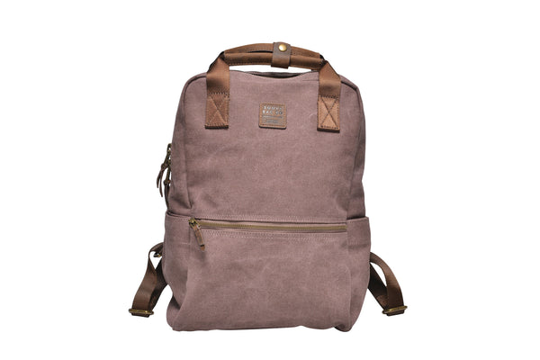 """Vienna"" Canvas Carry Backpack / Brown"