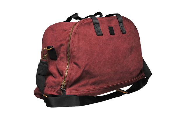 """Amsterdam"" Canvas Daytripper Bag / Bordeaux"