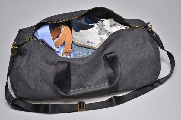 """Stockholm"" Canvas Duffle Bag / Brown"