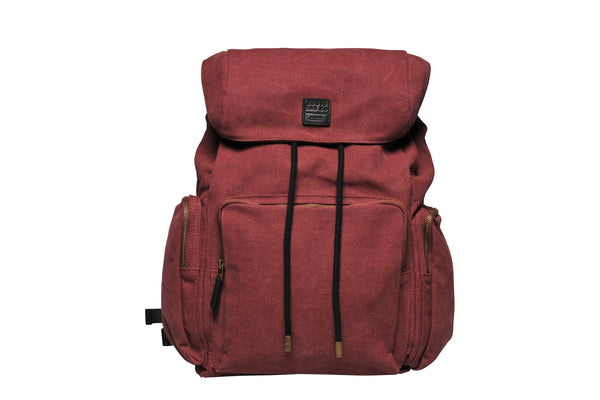 """Zermatt"" Canvas Hiking Backpack / Bordeaux"