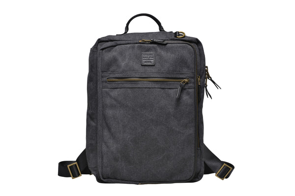 """Copenhagen"" Canvas Laptop Backpack / Anthracite"