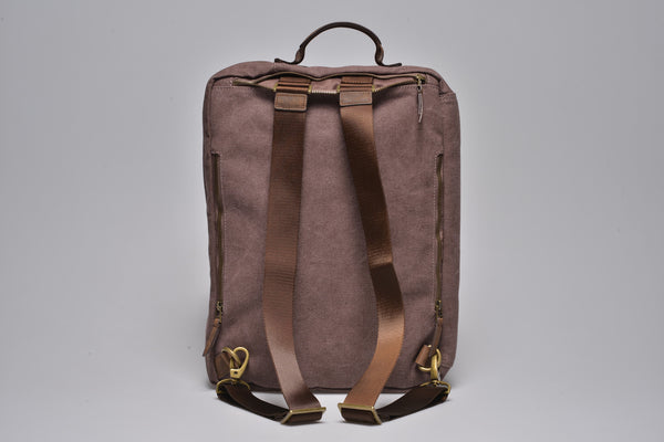"""Copenhagen"" Canvas Laptop Backpack / Brown"