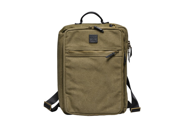 """Copenhagen"" Canvas Laptop Backpack / Olive"