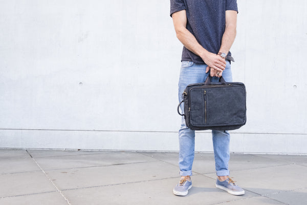 """Copenhagen"" Canvas Laptop Backpack / Sand"