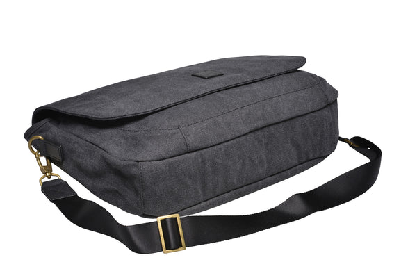 """Oslo"" Canvas Messenger / Anthracite"