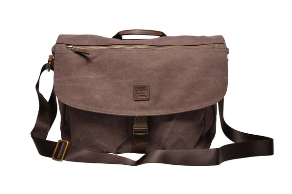 """Oslo"" Canvas Messenger / Brown"