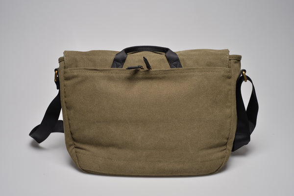 """Oslo"" Canvas Messenger / Olive"