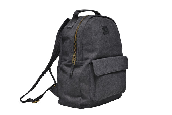 """Berlin"" Canvas Regular Backpack / Anthracite"