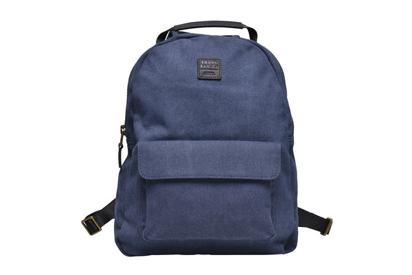 """Berlin"" Canvas Regular Backpack / Blue"