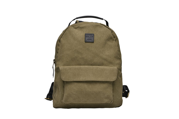 """Berlin"" Canvas Regular Backpack / Olive"