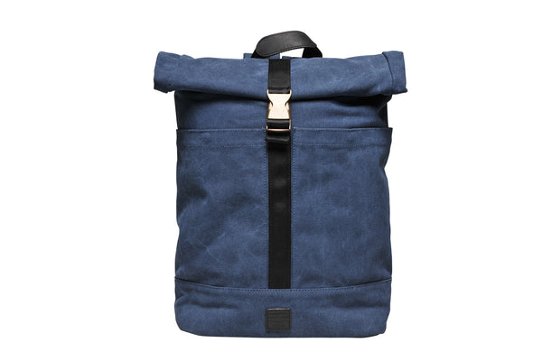 """Portland"" Canvas Rolltop Backpack / Blue"