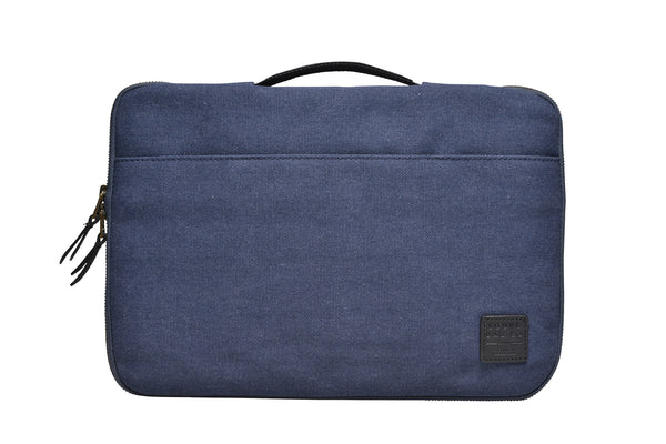 """Dublin"" Canvas Macbook Sleeve 13"" / Blue"