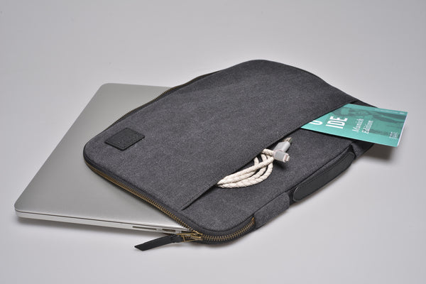 """Seoul"" Canvas Macbook Sleeve 15"" / Blue"