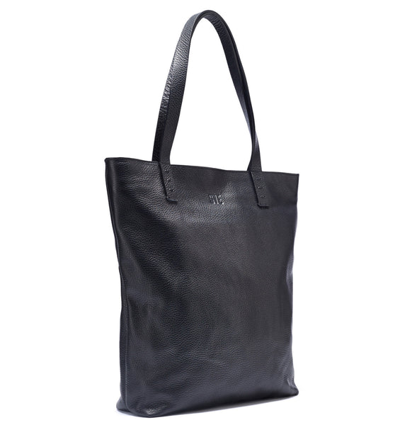 Leather Shopper Bag / Black