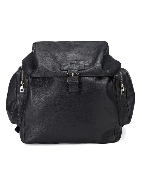 Leather Backpack Large / Black