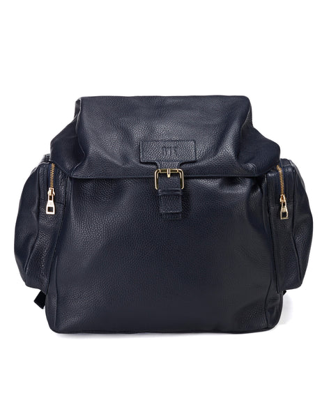 Leather Backpack Large / Blue