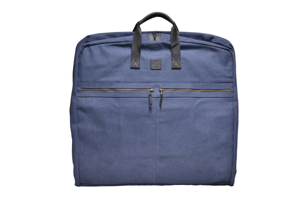 """London"" Canvas Suit Carrier / Blue"