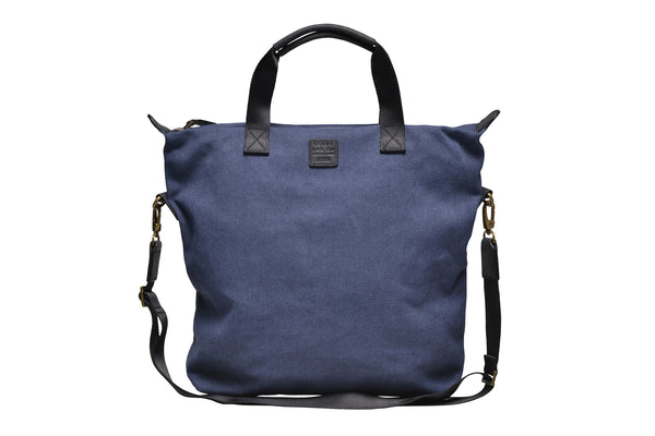 """Barcelona"" Canvas Tote Bag / Blue"