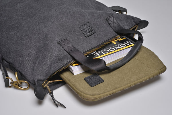 """Barcelona"" Canvas Tote Bag / Anthracite"