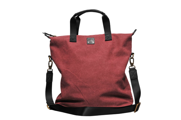 """Barcelona"" Canvas Tote Bag / Bordeaux"