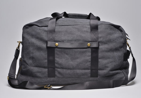 """Vancouver"" Canvas Travel Bag Large / Anthracite"