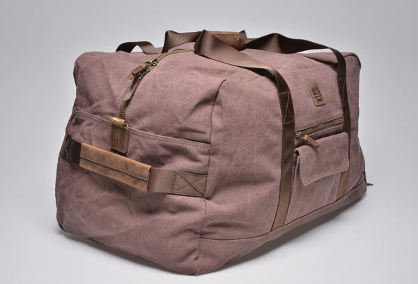 """Vancouver"" Canvas Travel Bag Large / Brown"