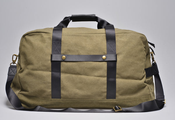 """Vancouver"" Canvas Travel Bag Large / Olive"