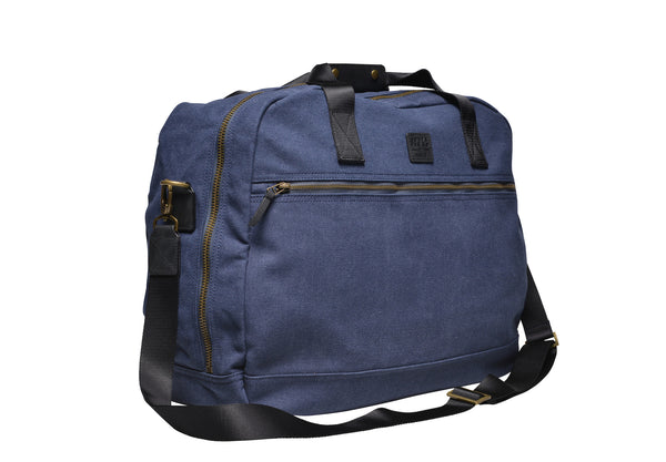 """Singapore"" Canvas Travel Bag Regular / Blue"