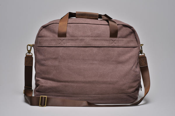 """Singapore"" Canvas Travel Bag Regular / Brown"