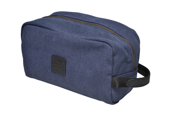 """Paris"" Canvas Wash Bag / Blue"