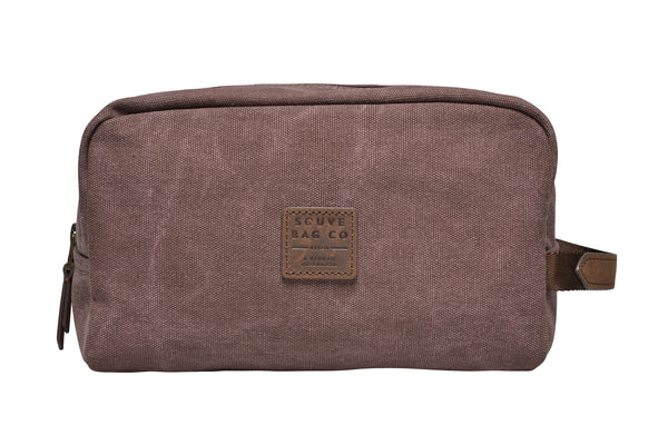 """Paris"" Canvas Wash Bag / Brown"
