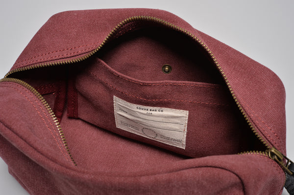 """Paris"" Canvas Wash Bag / Bordeaux"