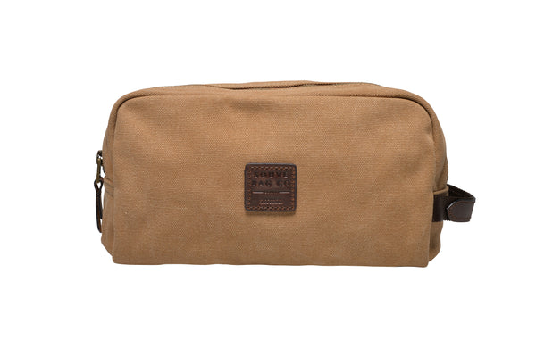 """Paris"" Canvas Wash Bag / Sand"