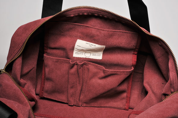 """Sydney"" Canvas Weekender / Bordeaux"