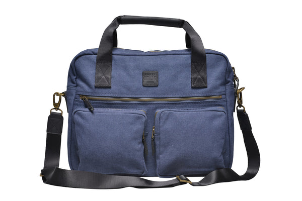"""Munich"" Canvas Work Bag / Blue"