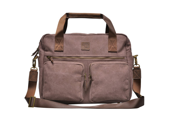 """Munich"" Canvas Work Bag / Brown"