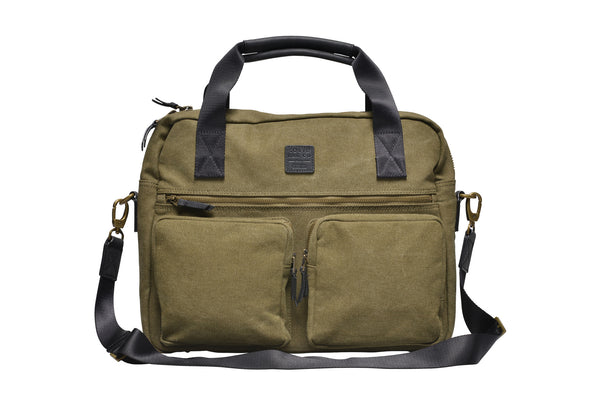 """Munich"" Canvas Work Bag / Olive"