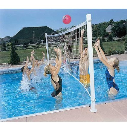 fun pool games - pool volleyball