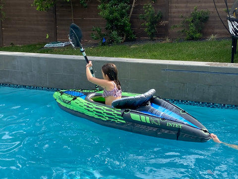 swimming pool toys blow up kayak