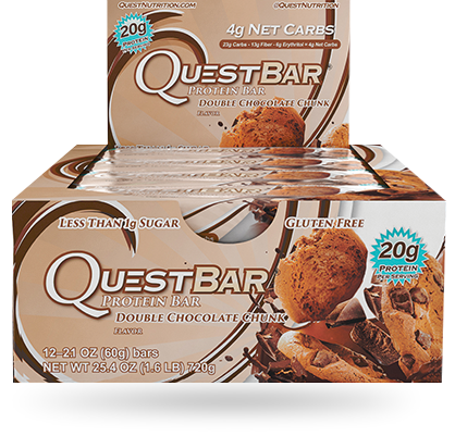 Quest Natural, Double Chocolate Chunk - Box of 12