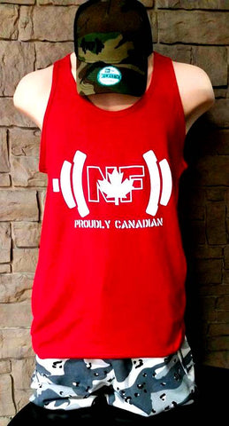 "***Canada Day Naturally Fit ""Proudly Canadian"" Tank - Red"