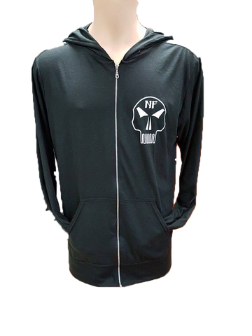 ***New*** Naturally Fit Men's Skull Thin Zip Hoodie