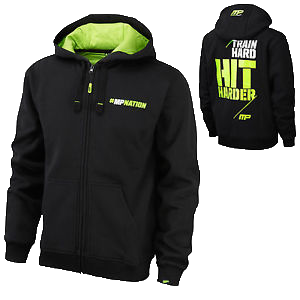 MusclePharm Zip Hoodie-Train Hard Hit Harder