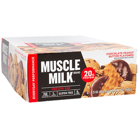 Muscle Milk RED Protein Bar - Box of 12 Bars, 20g protein