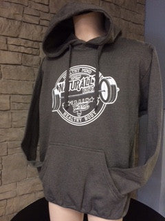 Naturally Fit *New Healthy Mind/Healthy Body, Thick Pull Over Hoodie - Grey & White