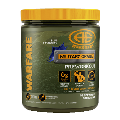 ****Advanced Genetics, Warfare (40 Servings) $34.99 reg $49.99 Save $15