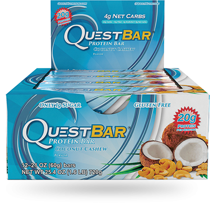 Quest, Coconut Cashew - Box of 12